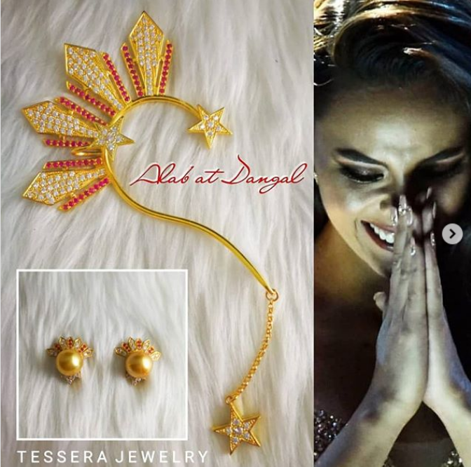 """A Closer Look At Catriona Gray's """"Patriotic"""" Ear Cuffs"""